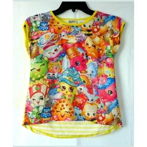 Shopkins Girls T-Shirt Sz M (7-8) Short Sleeve